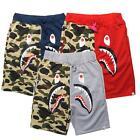 New Arrival Men's Aape Shark Jaw Camo Stretchy Bape Cotton Ape Shorts Pansts