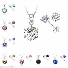 Beauty Chain Round CZ Costume Necklaces & Pendants
