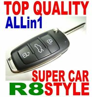 AUDI R8 STYLE FLIP KEY REMOTE FOR SEAT IBIZA LEON TOLEDO FOB 1J0959753AG/CT CHIP