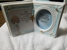 PRECIOUS MOMENTS First  COMMUNION BOY PICTURE FRAME (Open Book) ENESCO - 1995