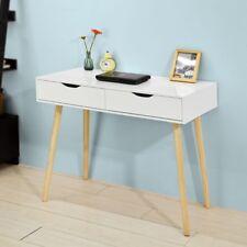 SoBuy® Table de Bureau Informatique Table Plan de travail 2 tiroirs FWT40-WN,FR