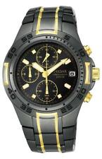 PNP PL8002X1 Pulsar Gents Chronograph Two Tone Black Ion/Gold Plated Watch