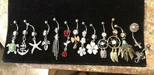 NEW! Belly Piercing Navel Ring Jewelry, your choice, elephant, Flowers, DreamCat
