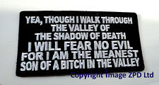 P3 Meanest Son Of a B###ch Funny Humour Iron Patch Biker Valley of the Shadow