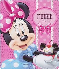 Minnie Mouse Blanket Polar Fleece Kids Bedding Girls Cupcakes Pink Disney