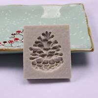 Silicone Christmas Pine Nut Sugarcraft Cake Mould Fondant Chocolate Baking Mold
