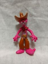 "Cowboy Hat Pink Panther Western 1980s Rare Vintage 3"" Display Classic Figurine"