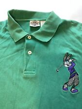 Vintage Looney Toons Polo Large Embroidered Bugs Bunny Golf Acme Clothing EUC