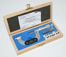 Vis 25 50mm Thread Pitch Micrometer With Anvil Set For Standard Whitworth Thd