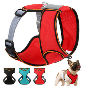 Soft Breathable Fabric Mesh Pet Puppy Dog Vest Walking Vest Harness Reflective