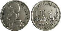 100  FRANCS  COCHET  ,  1958  ,  CHOUETTE  ,  RARE