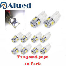 10 x White T10 W5W 194 168 2825 5050 LED Super Bright Car Lights Lamp Bulb 12V