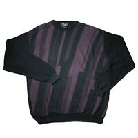 Vintage 90s Coogi Style Sweater 2XLT Hip Hop Biggie Abstract Tosani