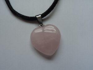 Crystal Rose Quartz Heart Pendant Love Compassion Taurus Charity Donation
