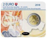 Coincard 2 euros BU SLOVAQUIE 2018 - Création de la République Slovaque - BU