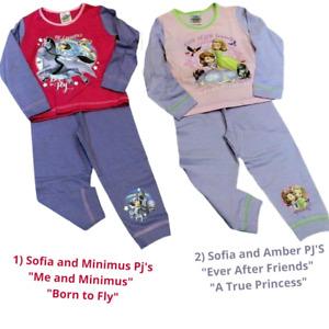 Frozen Pj's Sofia Amber Me Minimus Ever After Friends Pyjamas Girl 18-24m & 3-4y