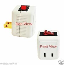 1 Pack Single-Port Power Adapter with On/Off LIGHTED Switch Powtech ( EL )