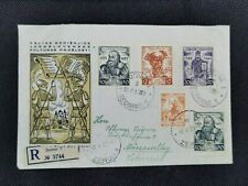 Yugoslavia Stamps - 1950-51 SC#335-337, 307 on First day cover