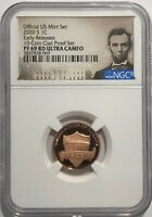 2020 S 10 COIN CLAD PROOF SET LINCOLN PENNY NGC PF69 RD ER ULTRA CAMEO RED CENT
