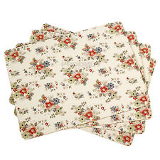 Set of 8 Placemats Cream Daisy Vintage Floral Place Setting Dining Table Mats
