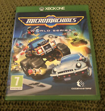 XBOX ONE Micro Machines World Series. In box. Tested - Working.