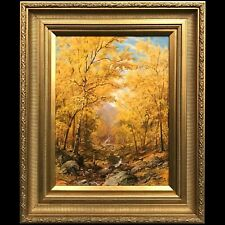 Erik Koeppel Nh White Mountain Landscape Oil Painting, Golden Autumn