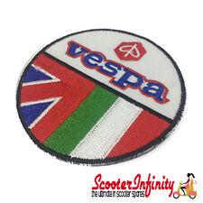 Patch Clothing Sew On - Vespa Emblem Twin Flag 75mm Union Jack Italian Flag MOD