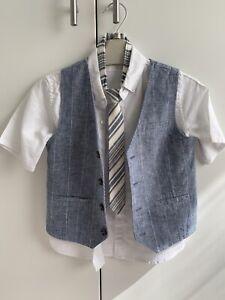 NEXT Boys Waistcoat, Shirt And Tie Set 4-5 Years