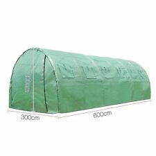 Large 6m Greenhouse Steel Frame Mesh Cover Green Hot House Plant Seed Shelter
