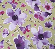"Enchantment Sateen Companions Kathy Davis FreeSpirit BTY Floral Green 54"" Wide"