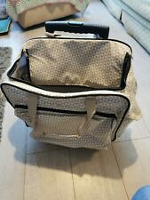 Craft Trolley Bag compartments extendable handle