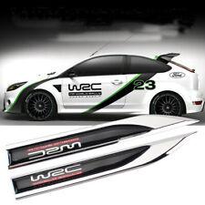 2X Car Emblem Side Fender Badge Knife Decal Stickers For SUBARU WRC WRX STI XV