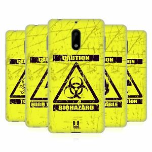 HEAD CASE DESIGNS HAZARD SYMBOLS SOFT GEL CASE & WALLPAPER FOR NOKIA PHONES 1