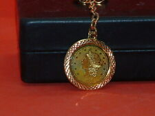 Pre Owned Vintage 1776 Replica Twenty Dollar Gold Color Key Chain