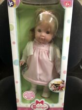 Jc Toys Carla 14'' Baby Doll, Blonde in pink and White Outfit New