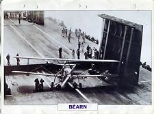 PHOTO BATEAU MILITAIRE 1940 FRANCE BEARN PORTE AERONEFS LEGER