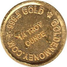GoldenMoney 1/4 troy ounce pure 999.9 gold round bar
