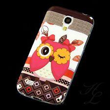 Samsung Galaxy S4 mini i9195 Silikon Case Schutz Hülle Cover Etui Blink Eule Owl