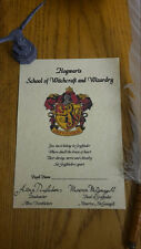 Harry Potter Sorting House GRYFFINDOR Certificate Gift Hogwarts Personalised