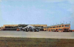 Constellation Plane Houston International Airport Texas postcard