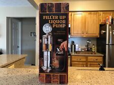 New FILL'ER UP Liquor Pump Silver Finish