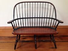 """UpperDeck Ltd Colonial Style Wooden Doll Teddy Bear Bench 15"""" Tall 15"""" Wide"""