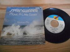 """7"""" POP SPRINGWATER-Move a Little Closer/Rescue me Bellaphon-cut out -"""