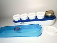 Salton Yogurt Maker Cosmopolitan YM-4 Thermostat Controlled Blue Lid 5 Jars