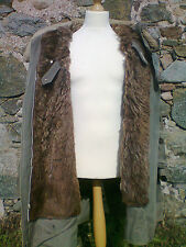 Swedish M1909 Winter Parka Rare Reindeer Fur Lining WW2 Sheepskin Collar 1944