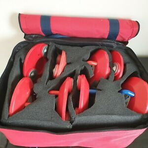 New Age Kurling Stones 8 Red ONLY - NOT COMPLETE SET