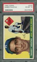 1955 Topps Baseball Dodgers | Sandy Koufax ROOKIE RC Card # 123 | PSA 6 EX- MINT