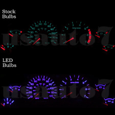 Dash Instrument Cluster Gauge PURPLE LED LIGHT BULBS KIT Fits 94-98 Ford Mustang