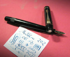 vtg Montblanc 202 Safety OB 14c Gold Nib Flex 1930s Fountain Pen Pocket Clip