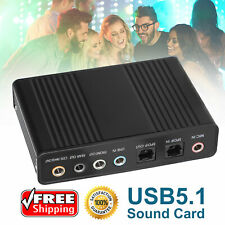5.1Channel External Sound Card Audio Controller Digital Analog Recording Adapter